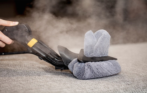 Disinfect upholstery and mattress with steam vapour