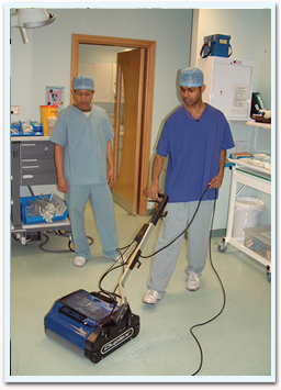 Floor cleaning with Duplex in Healthcare facility
