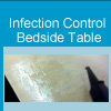 Watch the video on cleaning a bedside in a patient room