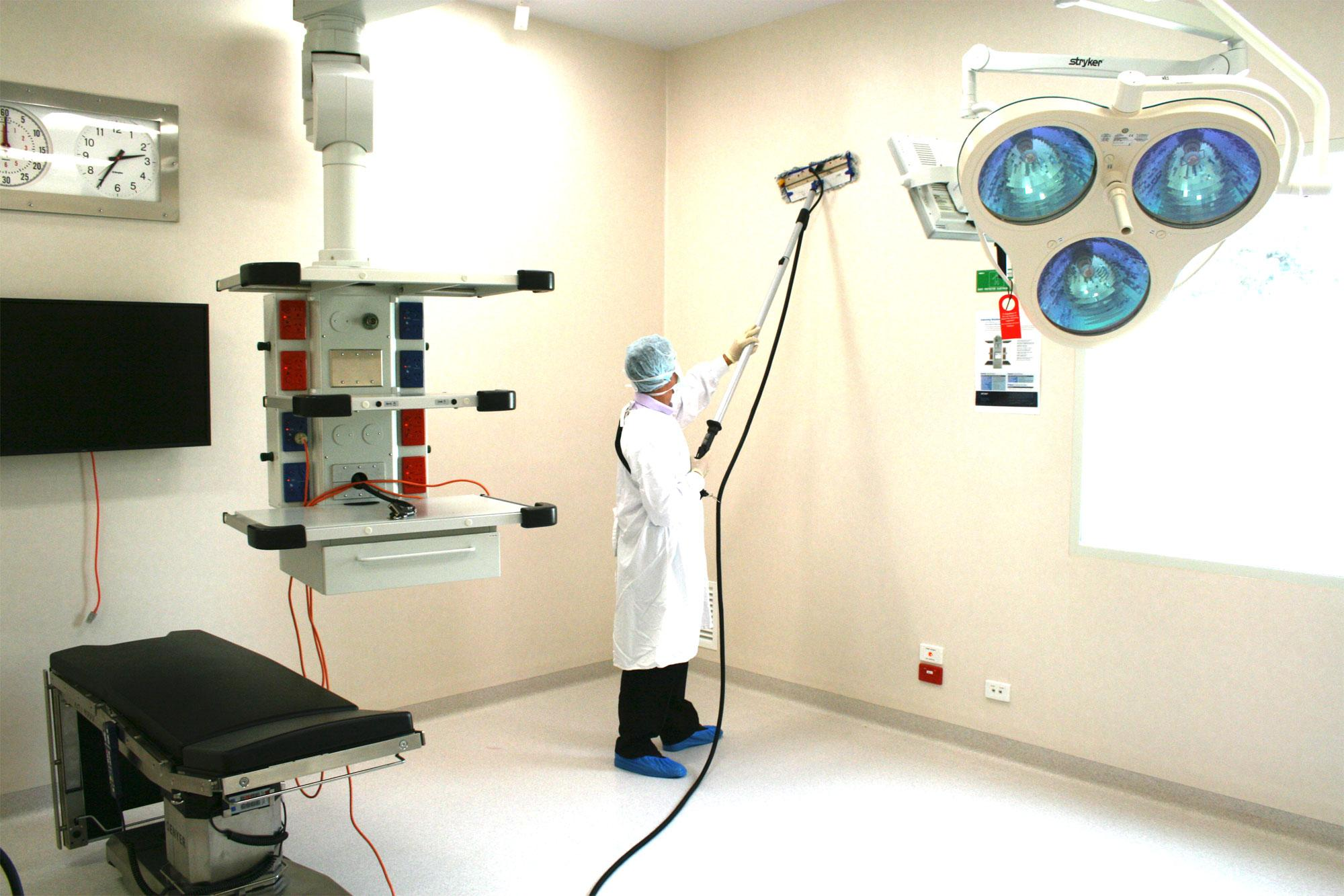 Outbreak Cleaning in Healthcare walls and surfaces